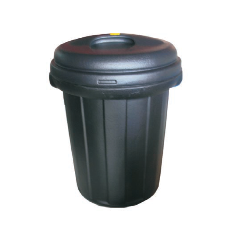 Black Pail Dustbin With Cover