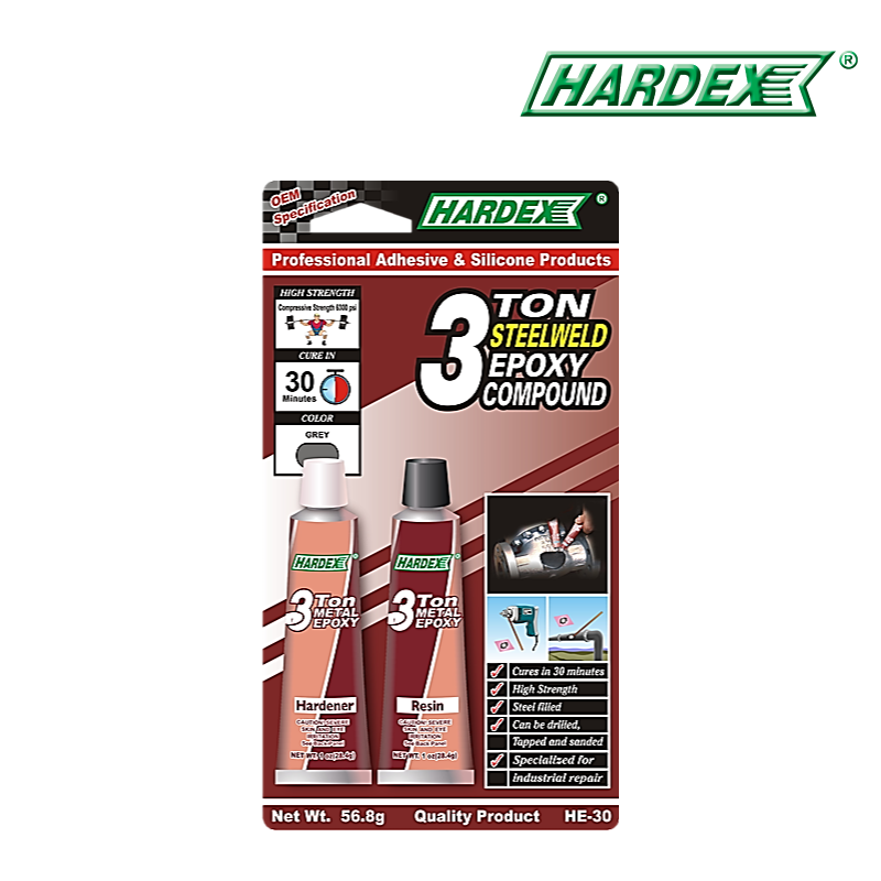 Hardex 3 Ton Metal Weld Epoxy Compound HE30