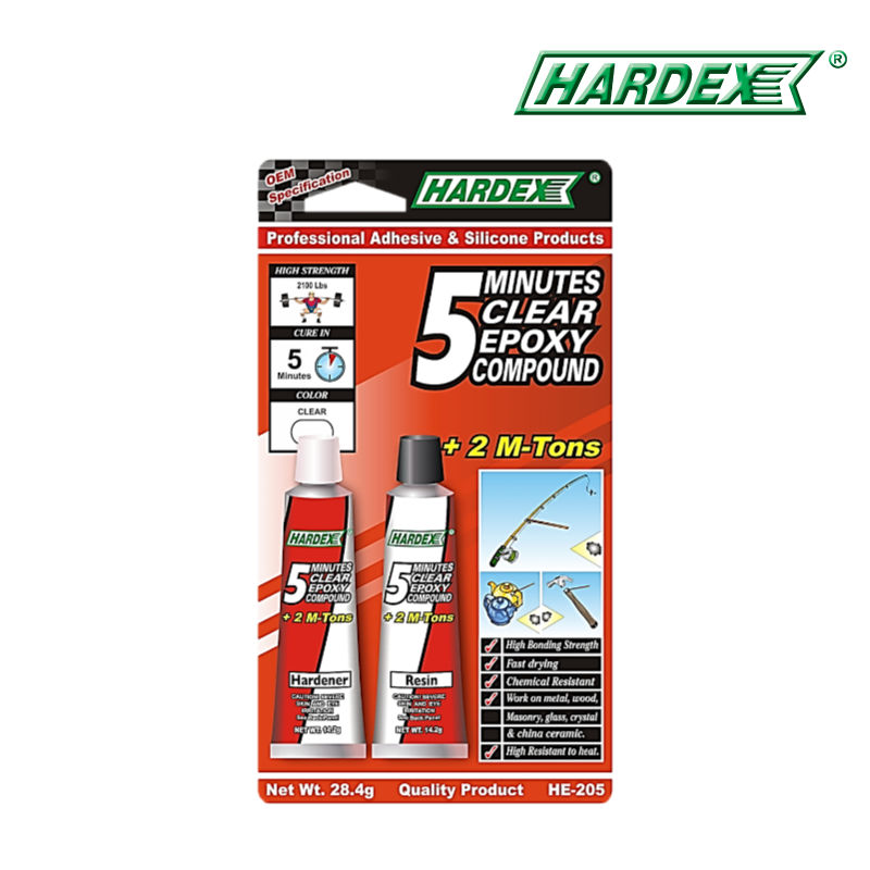 Hardex 5 Minutes Clear Epoxy Compound HE205