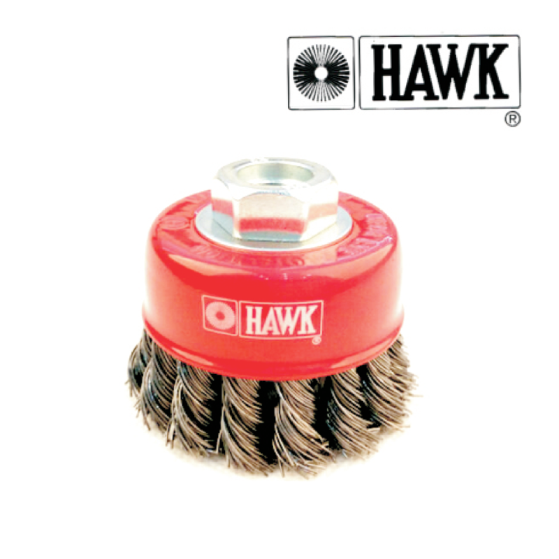 Hawk Cup Brush Knotted