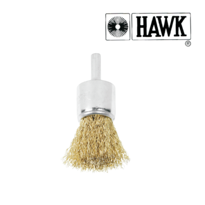 Hawk End Brush Brass