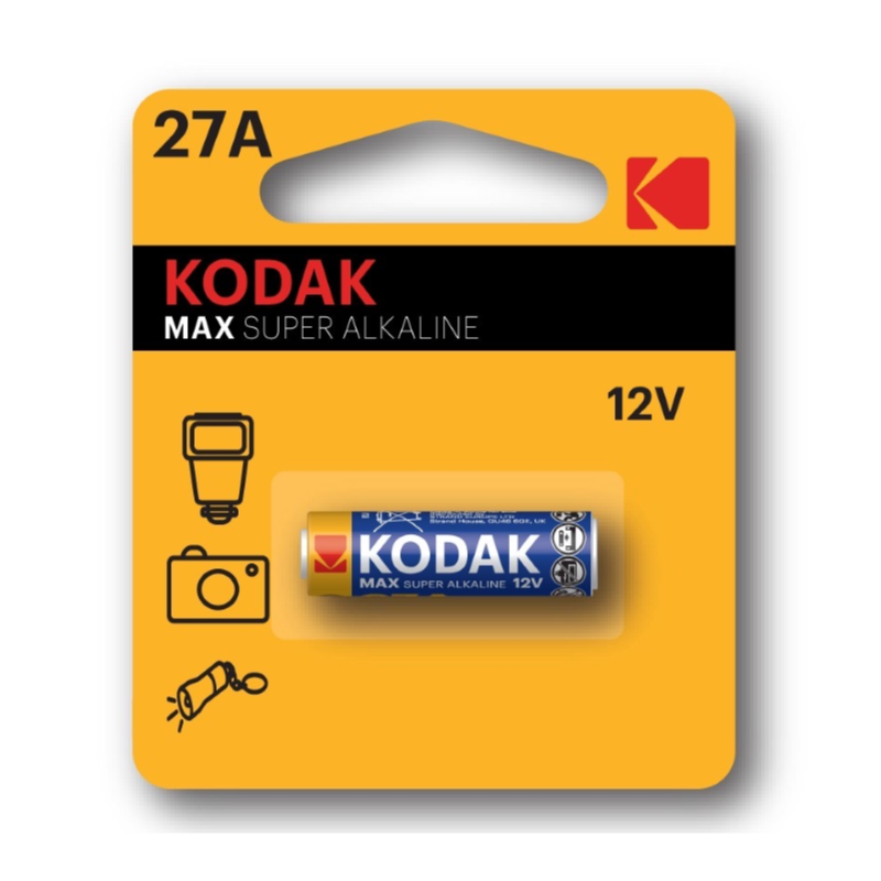 KODAK MAX 27A Super Alkaline Battery 12V