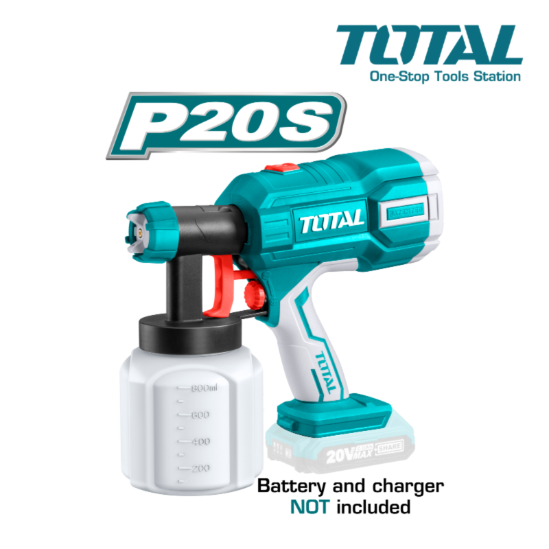 TOTAL 20V Li-Ion Spray Gun